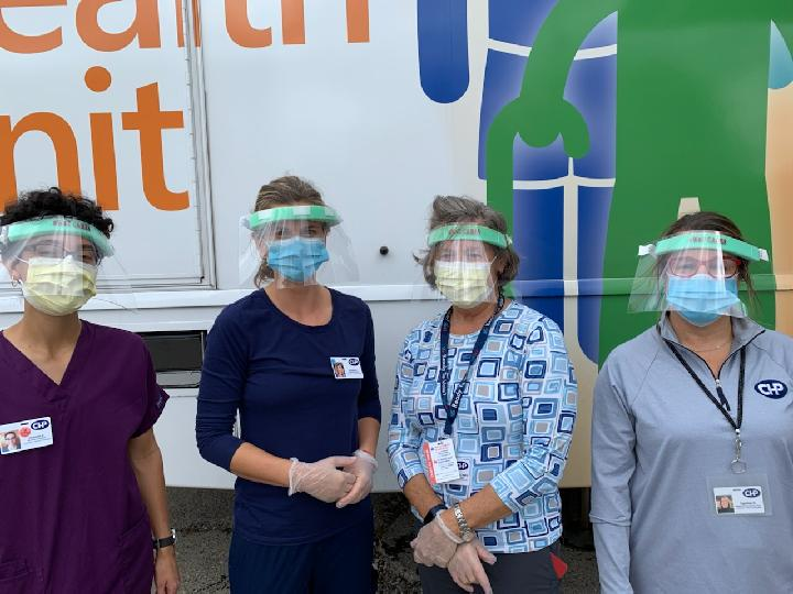 MHU Staff with Face Shields